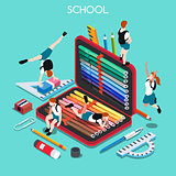 School Set 03 People Isometric