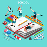 School Set 05 People Isometric