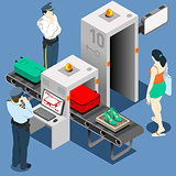 Security Gate 02 Concept Isometric