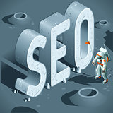 SEO Discovery Concept Isometric