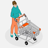 Shopping 03 People Isometric
