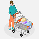 Shopping 04 People Isometric
