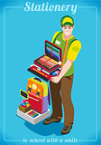 Stationer Poster People Isometric