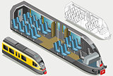 Subway Vehicle Isometric