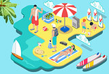 Summer Beach Concept Isometric