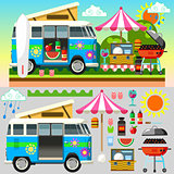 Summer Picnic Set 02 Flat 2D