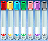 Test Tube Set Medical Isometric