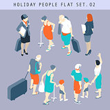 Tourist Flat 02 People Isometric