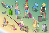 Tourists 01 People Isometric