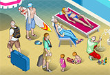 Tourists 05 People Isometric