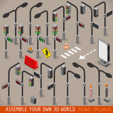 Traffic Management Road Isometric