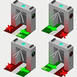 Tripod Gate 01 Object Isometric