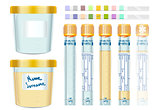 Urinalysis Test Tubes Lab 2D