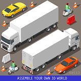 Vespa Truck Flat Vehicle Isometric