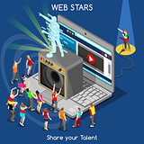 Webstars 01 People Isometric