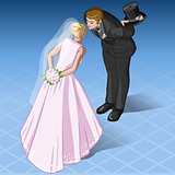 Wedding 01 People Isometric