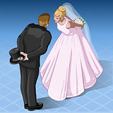 Wedding 02 People Isometric
