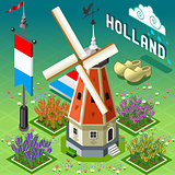 Windmill Farm Building Isometric