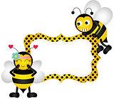 Loving bees blank banner