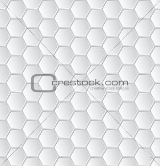 Abstract white hexagon pattern wallpaper