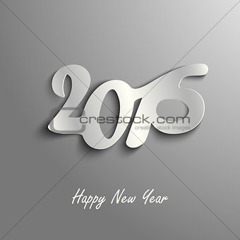 Abstract New Year wishes on a gray background