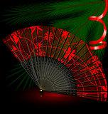black festive fan