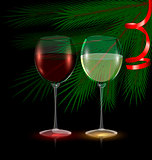 festive glasses of wine