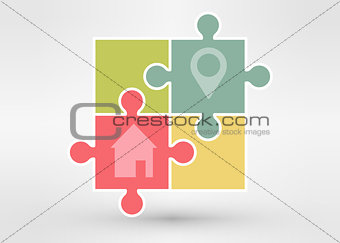 Abstract locations logo. Vector logotype design.