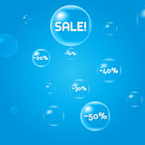 Sale. Discounts. soap bubbles