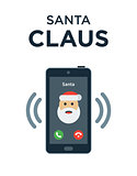 Marry Christmas phone call from Santa Claus