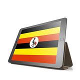 Tablet with Uganda flag