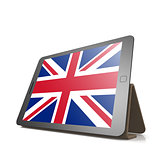 Tablet with United Kingdom flag
