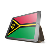 Tablet with Vanuatu flag
