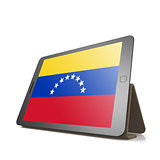 Tablet with Venezuela flag