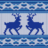 Knitted Pattern with two Reindeers
