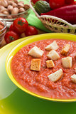 Plate with Gazpacho