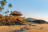 beach bar on the seashore in the tropics