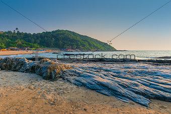 beautiful beach resort in North Goa