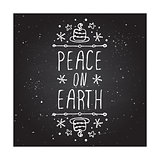 Peace on earth - typographic element