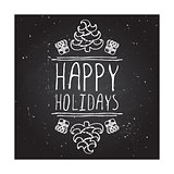 Happy holidays - typographic element