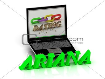 ARIANA- Name and Family bright letters near Notebook