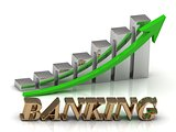 BANKING- inscription of gold letters and Graphic growth