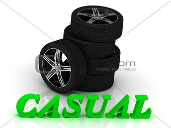 CASUAL- bright letters and rims mashine black wheels