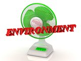 ENVIRONMENT- Green Fan propeller and bright color letters