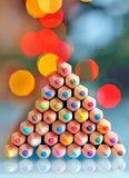 pencils as christmas tree