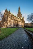 Cobbled path at Glasgow Cathedral, Scotland