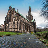 The cobbles at Glasgow Cathedral, Scotland