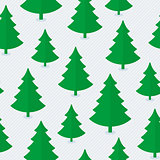 Christmas tree seamless pattern.