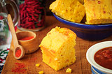 Pumpkin and Cornmeal Bread with Corn Kernels