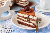 Chocolate, Quark and Prune Layer Cake